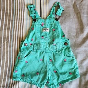 OshKosh Jean Strawberry Shortalls